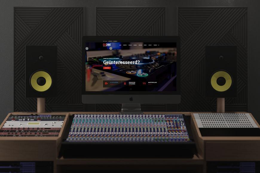 iMac Pro in Music Studio Mockup